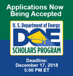 DOE Scholars Program – Apply Now!